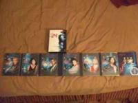 I have seasons 1 and 6 of the TV series 24 on DVD. I