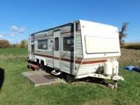 24 foot Skyline Layton travel trailer, has a double
