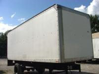 24' Used Truckbody, FRP sides, Aluminum Roof, Pullout