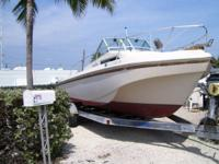 I HAVE A 24' WELLCRAFT FOR SALE WHOLE OR FOR PARTS,IT