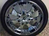 "24"" Zora Chrome Wheels & 305/35/24 tires $1600 These 6"