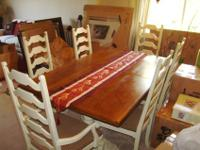 For sale is a beautiful pecan dining room table with
