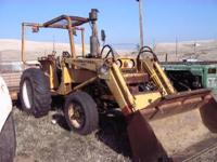 International 2444 tractor with loader bucket,pto ,