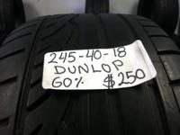 I Have actually An Utilized Set Of 4 (245-40-18)DUNLOP