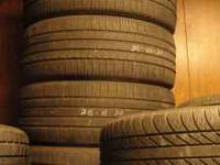 I have four Goodyear 245-45-20 used tires . They are