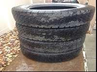 Complete set of BF Goodrich tires for sale. Excellent