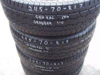 Selling a set of 4 Tires 245-70-R17 General Graber.