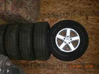 Jeep wheels and tires off a 2007 jeep
