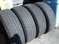 I have set of 4,P245/75R16 tires for sale. There is