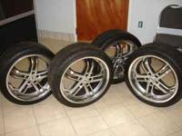 FOR SALE 4 WHEELS WITH TIRES 245/35R19 DIAMONDBACK