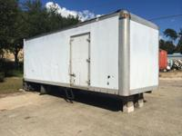 24' BOX MORGAN TRAILER WITH MAXON LIFT GATE AND NEW