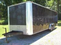 24' x 8' Enclosed trailer, double 5k. axles, 10k GVW,