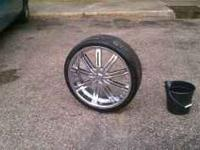 i have a pair of 24 inch rims for sale in excellent