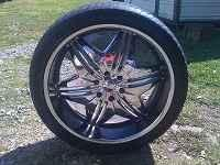 24 inch rims and tires for sale.All in good
