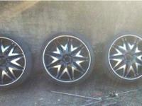 24's black and machined, 255/30 tires. Rims and tires