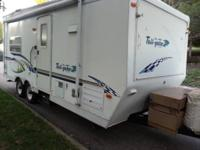 24' Toyhauler by keystone.  Back part of toyhauler is