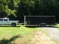 24ft enclosed trailer almost converted to toy hauler