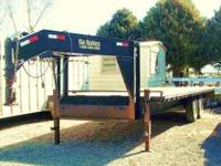 2003 24ft Gooseneck Flatbed Trailer. Two- 7,000 pound