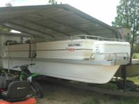 24ft pontoon it is a skipper craft I have had it tuned