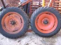 I am selling a pair of lugged implement tires that came