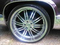 24inch rims and tires. They are coming off a Caddilac