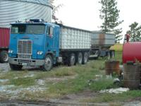 1977 Freightliner 3 axle steerable pusher. pusher tires