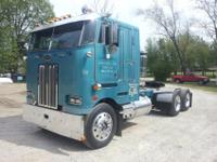 1982 362 Peterbilt Cabover Single Bunk. Low Mileage,