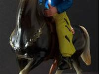 Great vintage cowboy on horse set. Stamped Hong Kong on