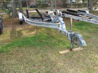 Aluminum dual axle 10,000 lb trailer with 6 lug hubs,