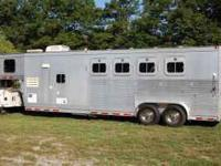 2000 Eby aluminum 4 horse trailer with living quarters.