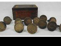6 Pairs Copper Indian Head Penny Cufflinks. The dates