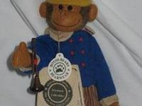 Giseppi Renaldi monkey by Boyds Bears QVC approximately