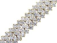 Stylen25 Carat Diamond Chevron BraceletnnnMaterialn18K
