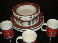 Coca Cola coke Dishes Dinnerware, set of 14 pieces and