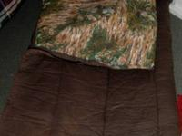 NICE THICKLY PADDED CUSHY COMFORTABLE SLEEPING BAG FOR