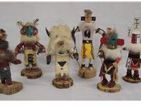 Collection six Small Navajo Kachinas. This fine group