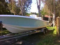 2007 25' COMPETITION BOAT. HULL & LOADMASTER TRAILER