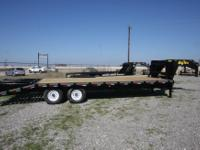 New 2011 Big Tex 14GN 25 Ft Tandem axle trailer with