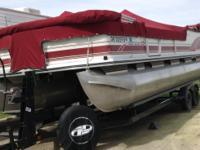 25ft pontoon fishing barge. 90 h.p. Mercury motor