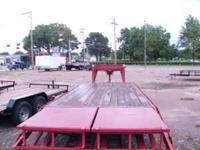 THIS IS A CLEAN USED CIRCLE M 20+5FT GOOSENECK TRAILER