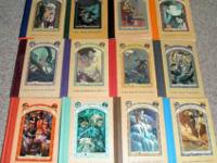 LOT OF 12 SNICKET A SERIES OF UNFORTUNATE EVENTS BOOKS.