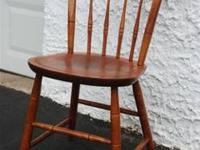 NICHOLS AND STONE SOLID WOOD DESK SIDE CHAIR This