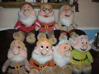 "25"" Plush Seven Dwarfs in excellent condition this is a"