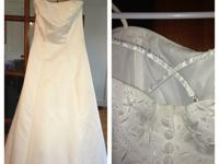 1 white floor length dress with spaghetti straps size 8