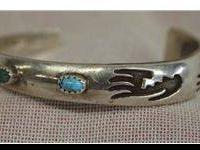 Vintage Navajo Sterling Bracelet - Al Joe. This