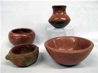 Vintage San Juan Pueblo Set of four Pots, Bowls. Bowl