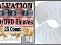 25 White CD / DVD Paper Sleeves,. Description:. 25 CD