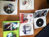 One xbox 360 and 4 wii games, looking to get $25 but I