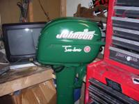 1952 QD-13 Johnson Sea Horse ten Horsepower outboard,