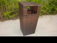 Removable Cover Trash Can. 40 x 40 x 80 cm PE Rattan,